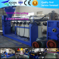 Plastic pe film recycling and granulating production line