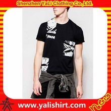 Funny unique design anti-pilling cheap cotton polyester short sleeve branded surplus t-shirts