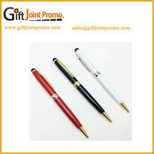 Promotional Chinia Wholesale White Twist Ballpoint Pen with Printing LOGO