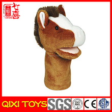 China factory stuffed hand puppet toy plush horse hand puppets
