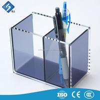 Desk Standing Coloured Acrylic Squre Pen Display Holder / Rack Hot Sale