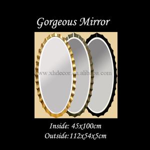retângulo de forma oval de ouro e prata preto ikea parede de espelho