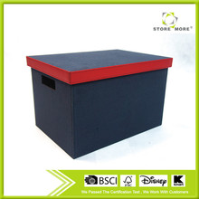 Fashion Blue Storage Trunk With Red Trim