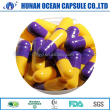 custom pharmaceutical grade drug in Halal natural plants cellulose print colored empty hard vegetable HPMC capsules