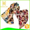 double-layer double patern woman raw silk scarf