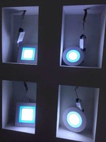 turkey market panel led lamp change color-Hot sale 10w Round Square ultra thin led panel light with CE& RoHS