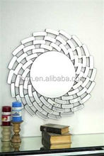 2015 newsest handmade craftwork art flower shaped bathroom craft mirror bathroom vintage wall mirror decorative mirror
