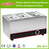 CE Certificate 3 Pans Table Top Stainless Steel Electric Bain Maire/Food Warmer BN-B17