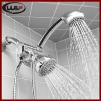 Dual 2 Head Adjustable Shower Kit Massager Set 5 Rub Clean Easy Installation