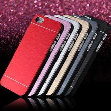 Super Deal High Quality Deluxe Hard Metal Aluminum Phone Case For Apple iPhone 4 4S Super Slim Back Cover Shell FLM