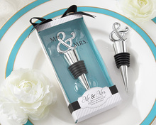 Mr and Mrs Wine Bottle Stopper Bottle Opener For Wedding Gift wholesale
