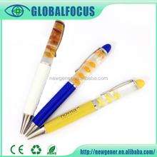 School supplies wholesale liquid logo pen & plastic ballpoint pen