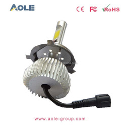 Newest DC2 12V car led headlight, 22w 2200LM per bulb H4 h7 h11 h13 9005 high power Led car headlight, Motorcycle led headlight