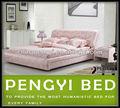 Europea moderna cama individual con matress py-6602