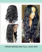 2014 new products virgin brazilian hair aaaaaa human hair full lace wig