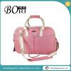 pink fabric fashionable dog shoulder pet travel bag