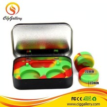 Cig Gallery silicone jars dab wax vaporizer oil container maple leaf box wax container silicone concentrate container