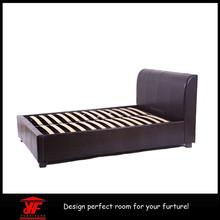 black fashion Furniture Bedroom mordern style leather soft bed