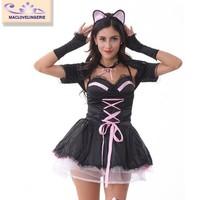Maclove Wholesale Holloween Adult Fancy Cat Costume For Women