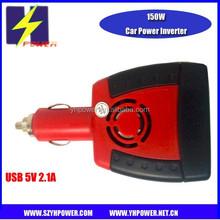 150W Car Power Inverter with USB 5V 2.1A 12V to 220V or 110V for laptop