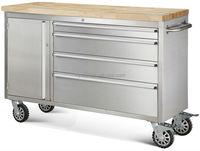 "48"" indoor storage bench with brake wheel"