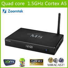 Amlogic s805 quad core dual wifi zoomtak M5 porn video media player hd