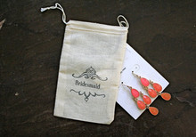 cotton/canvas drawstring bag jewelry/bag jewelry pouch