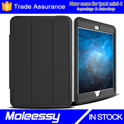 High Quality Fashional Genuine Leather Case for iPad Air 2/iPad 6 Generation Crystal PC Case