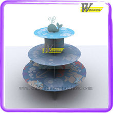 Hot New Original design ocean star 3 tiers Cardboard Cupcake display stand