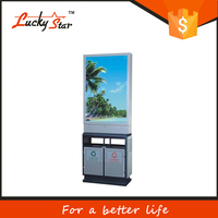 Outdoor collapsible corrugated plastic Advertising Recycle Waste Container/plastic Garbage Bins