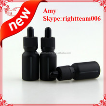 15ml round black bottle with window looks cool ---see through the bottles