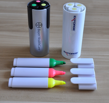 FACTORY SALE!!! NEW FASHIONALBE 3 PCS /SET highlighter pen for promotion