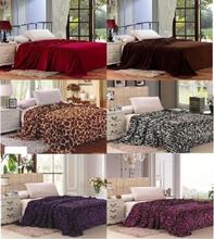 Twin Queen King Fleece Throw Brown Zebra Giraffe Pink Purple Super Soft Blanket