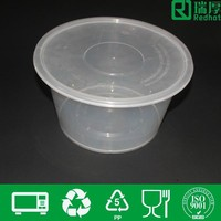 Thin plastic clear round food container soup storage box pp flesh box 3500ml