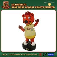 Custom mascot bobble head animals resin bobble head dolls