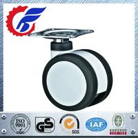 75mm swivel light duty black solid small plastic medical caster wheels
