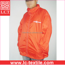 factory direct cheap price and quality guaranteed 190T nylon orange color working uniform hooded wind jacket for men(LCTU0064)