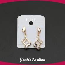 European hot sale musical note gold plated crystal earring jewelry fashion earring