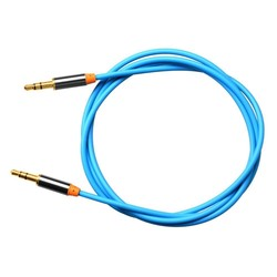 Blue color 3.5mm Male To Male Stereo Auxiliary Aux Audio Cable -Gold Plated Plugs Designed for 3.5mm audio jacks devices