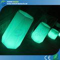 Plástico de la flor LED ollas ollas pote de iluminación