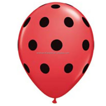Chinese Factory Polka dot balloon with LED light