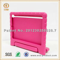 For EVA Foam Kids Child Proof Hot Pink Kickstand for ipad air case