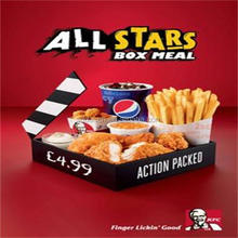 OEM kfc paper box for burgers / fries / chicken wings
