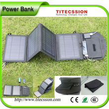 2015 Popular Solar charger for Laptop and folding solar charger power bank for travel