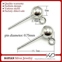 XD P016 925 Sterling Sliver Earing Stud Earring Studs with Ball Head