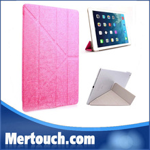 """smart cover for ipad 2 3 4 PU leather 4 fold stand hard clear transparent PC back cover for Apple ipad 2 3 4 9.7"""" smart cover"""