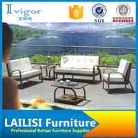 Outdoor rattan sofa set polyester fiber outdoor sofa