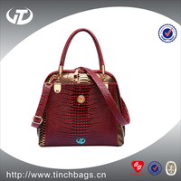 PU Leather luxury Lady Handbag with small MOQ With Mix Color