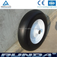 solid pu material anti puncture proof tyres 400-8