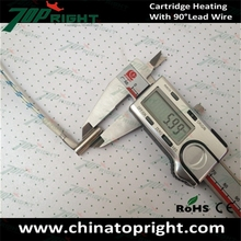 CE 24v 25w 6mm 3mm diameter cartridge heater with Right angle leads